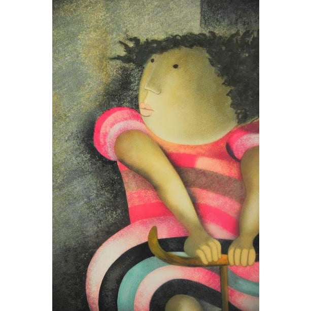 "Limited Lithograph ""Girl on Tricycle"" by Graciela Rodo Boulanger - Image 4 of 8"