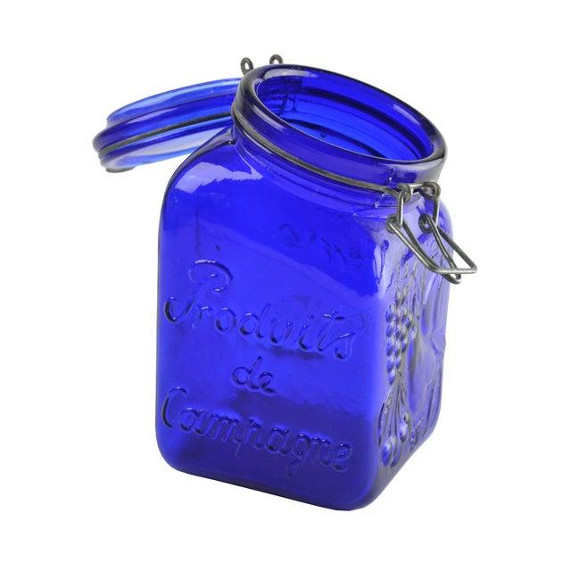 Cobalt Blue Glass Canister - Image 3 of 4