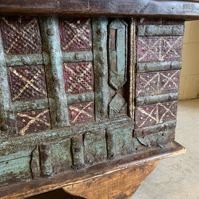 Metal Jodang Strapped Metal Wedding Chest Trunk For Sale - Image 7 of 13