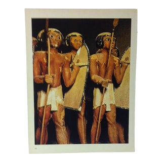 """Circa 1970 """"Soldiers"""" IXTH-XTH Dynasty Great Sculpture of Ancient Egypt Print For Sale"""