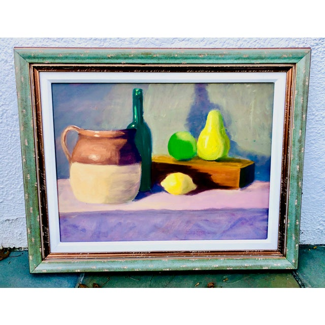 Contemporary Fruit Still Life Painting Signed For Sale - Image 9 of 9