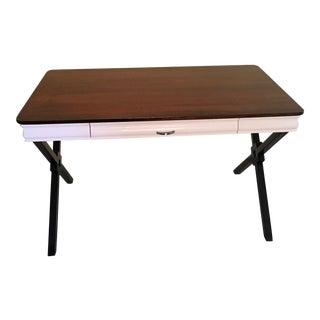 Custom Built Steel Frame Desk For Sale