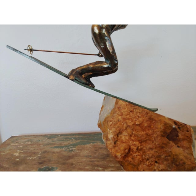 Vintage Curtis Jere Skier Sculpture For Sale - Image 10 of 11