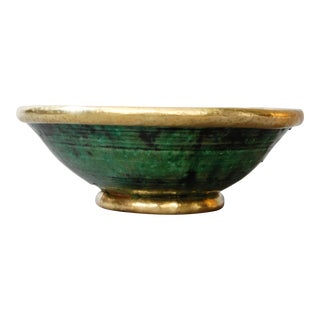 Gold Rim Tamegroute Pottery Bowl For Sale