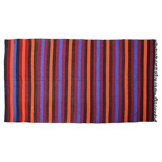Moroccan Berber Striped Blanket
