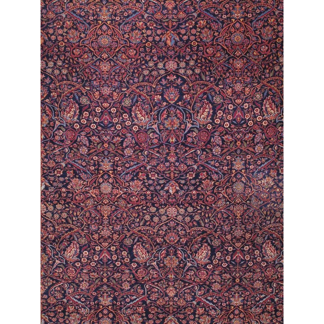 Antique Kashan Carpet For Sale - Image 4 of 6