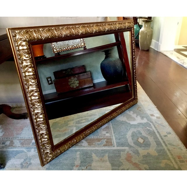 Ornate Gilt Wood Mirror For Sale In New York - Image 6 of 7