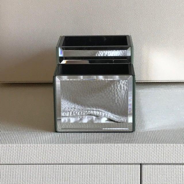 Pottery Barn Mirrored Makeup Brush Organizer Box Chairish