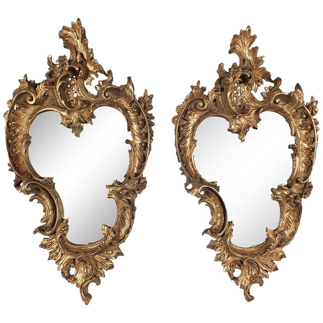Italian Rococo Gilt Resin Wall Mirrors - A Pair - Image 1 of 7