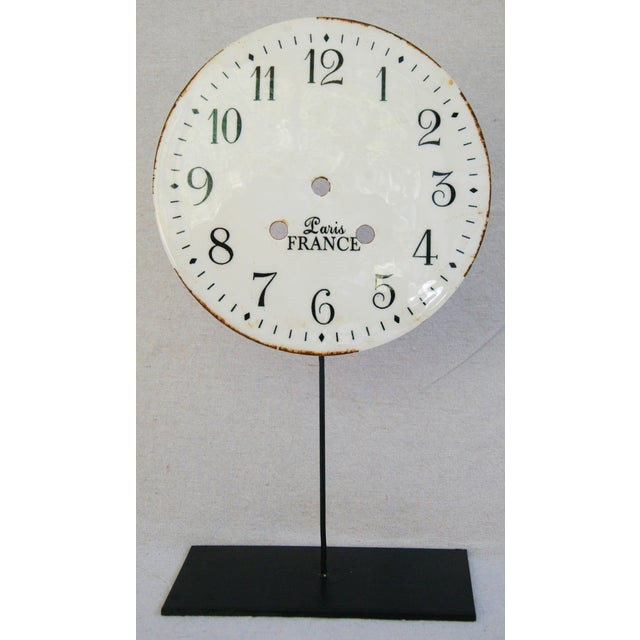 Porcelain & Metal Clock Faces on Stands - Set of 3 For Sale In Los Angeles - Image 6 of 10