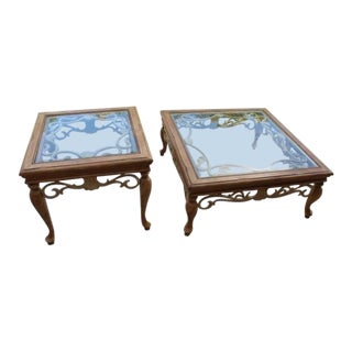 Traditional Wrought Iron Vine Coffee Table & End Table Set - 2 Pieces For Sale