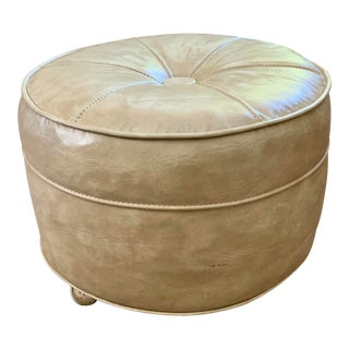 Mid-Century Leather Ottoman For Sale