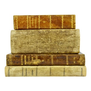 1830s Antique Italian Books - Set of 4 For Sale