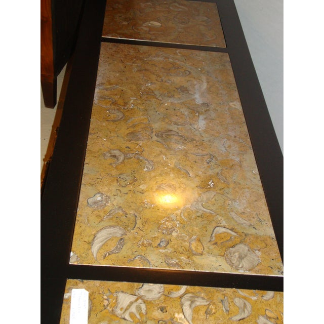 Tomlinson Stamped Marble-Top Ebonized Credenzas - A Pair For Sale - Image 5 of 9