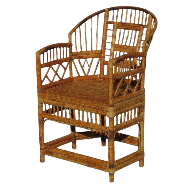 "Restored ""Brighton"" Tiger Bamboo Armchair - Image 1 of 5"