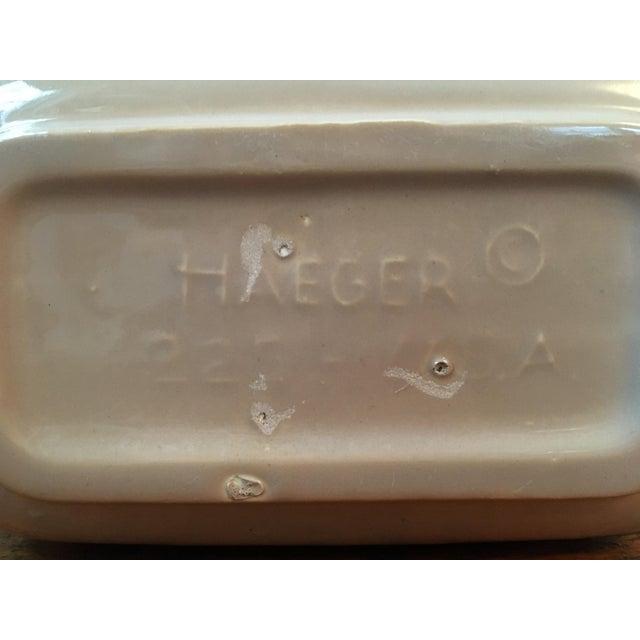 Vintage Haeger Beige Planter For Sale - Image 4 of 5