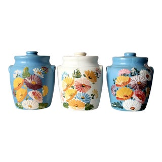Vintage Ransburg Pottery Cookie Jars - Set of 3 For Sale