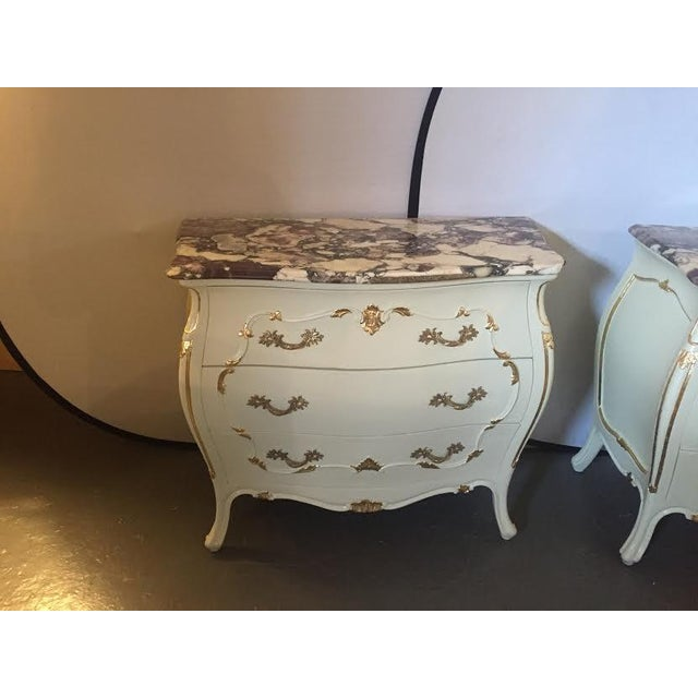 Paint Decorated Marble Top Chests- A Pair - Image 2 of 10