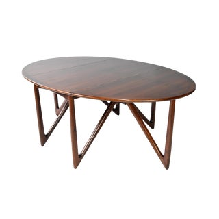 Mid-Century Danish Modern Rosewood Dining Table by Kurt Østervig For Sale
