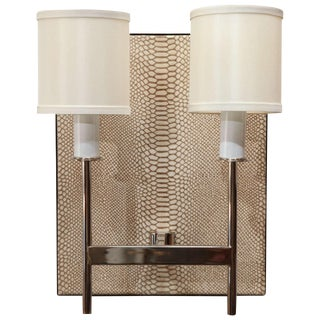 Customizable Paul Marra Python Backed Two-Arm Sconce For Sale