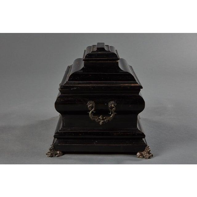 "17th Century An Imposing Ebonized Italian Wooden Baroque ""Coffretti"" For Sale - Image 5 of 8"
