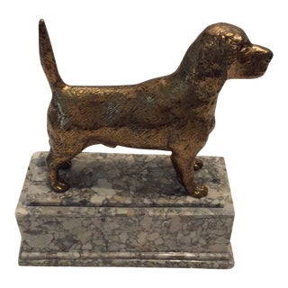 English Pointer Sculpture in Brass For Sale