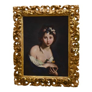 Early 19th C. Italian Portrait of a Girl For Sale