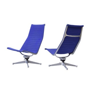 Eames Herman Miller Aluminum Group Lounge Chairs - A Pair