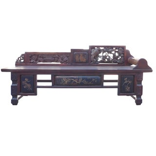 Vintage Fujian Scenery Daybed For Sale