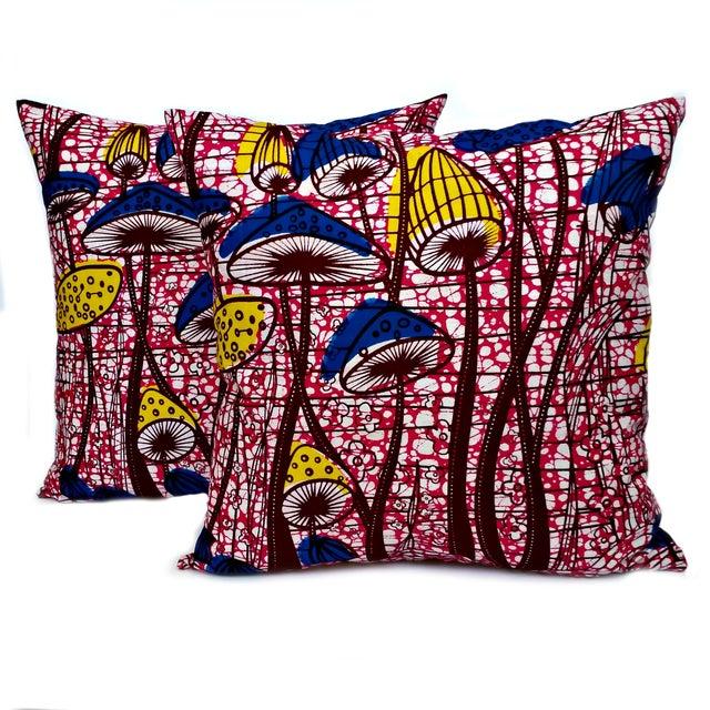 Flower Patch African Dutch Wax Pillows - A Pair - Image 3 of 3