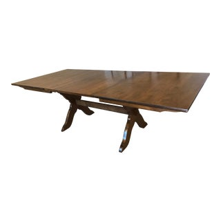 1970s Heywood-Wakefield Maple Trestle Dining Table For Sale