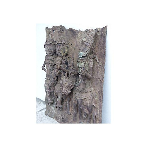 Large Antique African Bronze Relief - Image 4 of 10