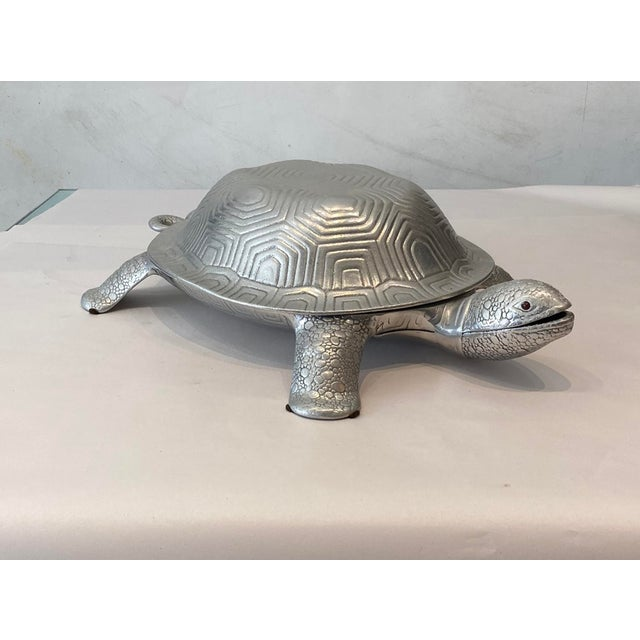 Silver Aruther Court Turtle Serving Dish With Ladle For Sale - Image 8 of 8