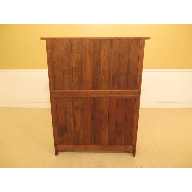 1980s Arts & Crafts Stickley Cherry Bookcase For Sale - Image 9 of 13