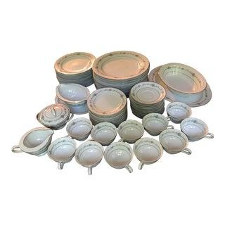Noritake Glencoe Pattern 6505 Service for 12 Dinnerware - 64 Pieces For Sale