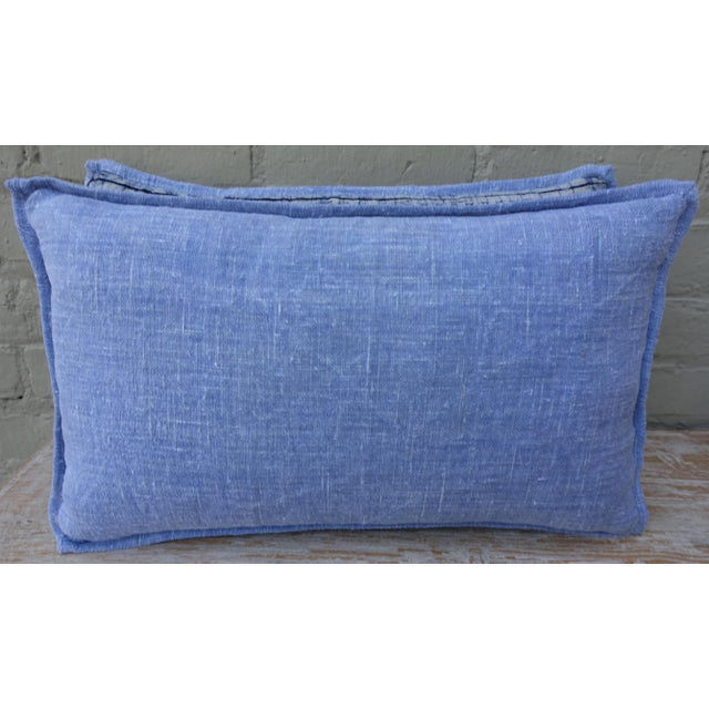 Navy & Light Blue Batik Pillows - A Pair For Sale In Los Angeles - Image 6 of 6
