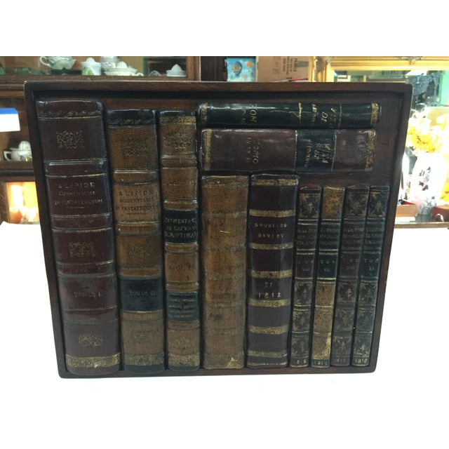Maitland - Smith Large Maitland Smith Faux Book Panel For Sale - Image 4 of 4