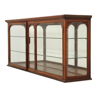 Antique English Mahogany Display Cabinet, Circa 1900