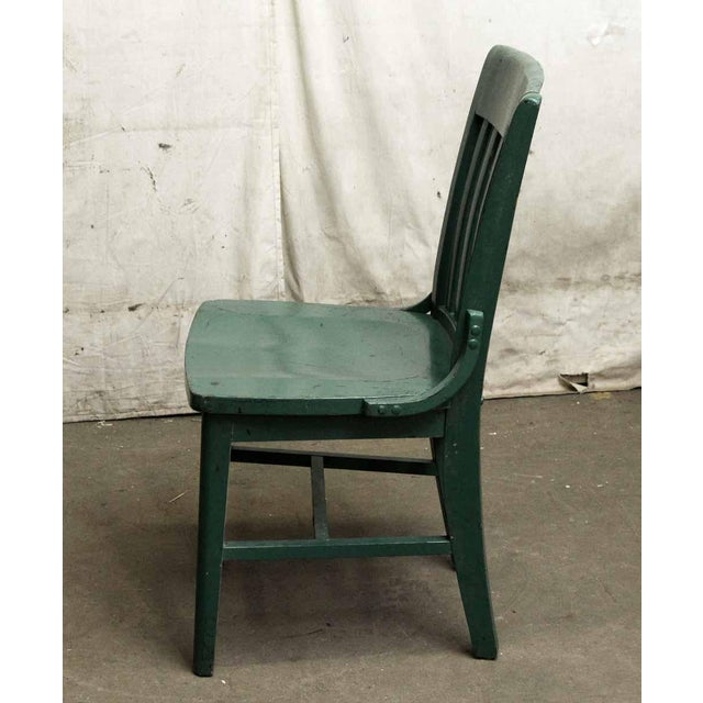 Green Wood Office Chair For Sale - Image 4 of 5