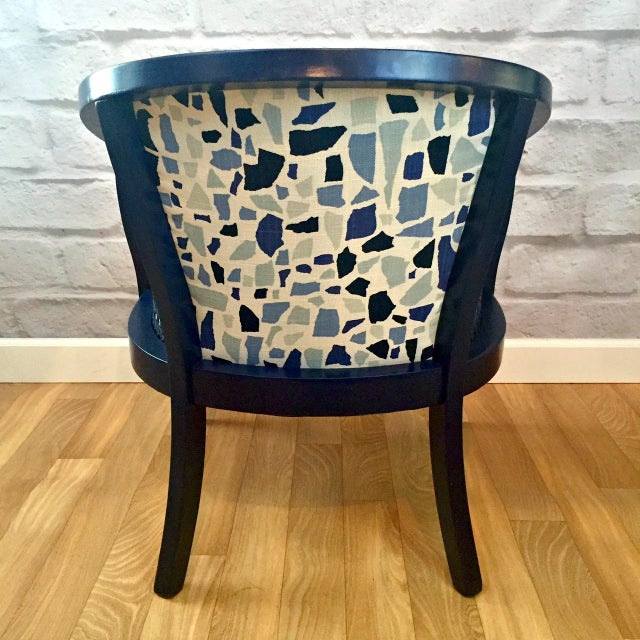 Navy Barrel Chair - Image 5 of 5