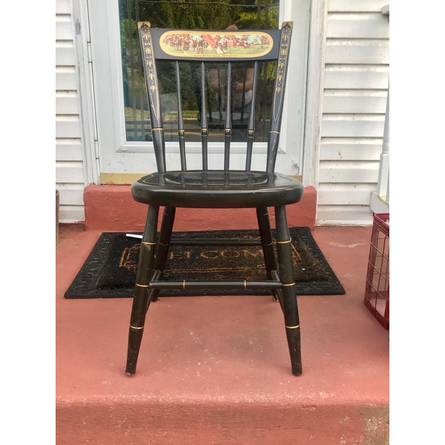 Nichols and Stone Co. Painted Wood Historic Chair For Sale - Image 9 of 9