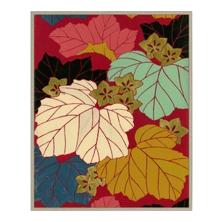 Curated Kravet Maple Leaf Festival Art Print For Sale