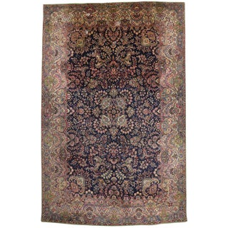 "Antique Persian Kirman Palace Size Rug - 11' X 17'4"" For Sale"