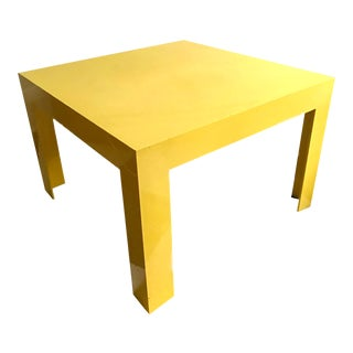 Mid Century Square Yellow Plastic Cube Table For Sale