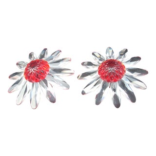 Swarovski Crystal Daises - a Pair For Sale