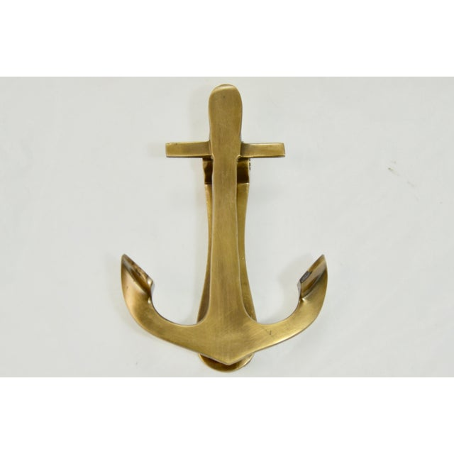 "1960s Brass Anchor 6"" Door Knocker For Sale - Image 5 of 5"