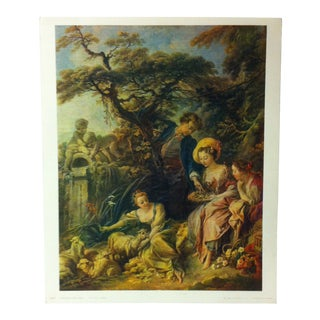 """French Color Print on Paper, """"Le Nid"""" by Francois Boucher - 1960 For Sale"""