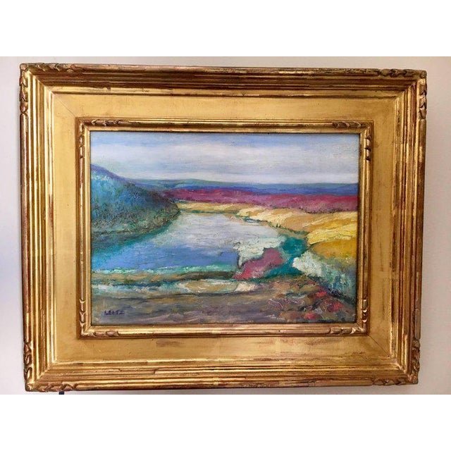 Jeffrey Leitz Original Signed Painting Connecticut Landscape Abtract For Sale - Image 10 of 10