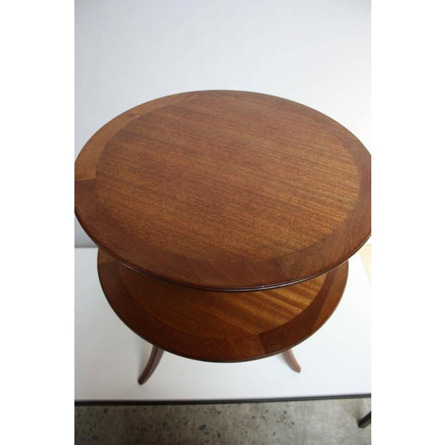 Edward Wormley for Dunbar, Two-Tier Mahogany Occasional Table - Image 8 of 10