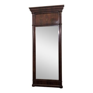 Antique American Federal Mahogany Mirror, Circa 1840-1850.
